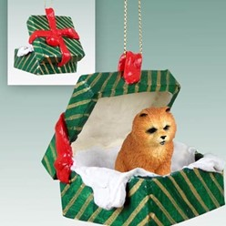 Chow Green Gift Box Christmas Ornament
