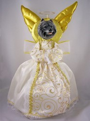 Keeshond Angel Tree Topper