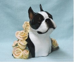 "Boston Terrier Bust, ""The Bostonian"" Ron Hevener Limited Edition  Dog Figurine"