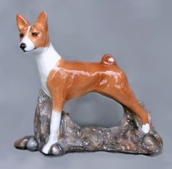 Basenji Ron Hevener Limited Edition Dog Figurine