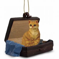Red Tabby Traveling Companion Ornament