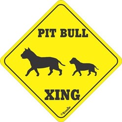 Pit Bull Crossing Sign
