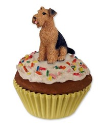 Airedale Pupcake Dog Trinket Box
