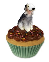 Bedlington Terrier Pupcake Trinket Box