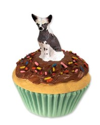 Chinese Crested Pupcake Trinket Box