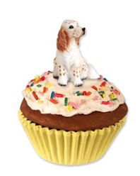 English Setter Pupcake Trinket Box