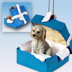 Labradoodle Gift Box Holiday Ornament