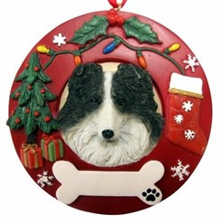 Border Collie Christmas Ornament That Can Be Personalized