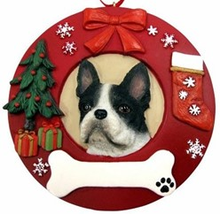Boston Terrier Christmas Ornament That Can Be Personalized