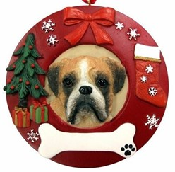 Boxer Christmas Ornament That Can Be Personalized