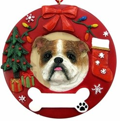Bulldog Christmas Ornament That Can Be Personalized