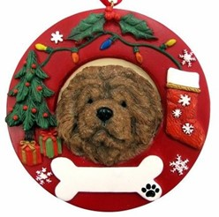 Chow Christmas Ornament That Can Be Personalized
