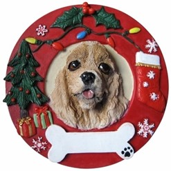 Cocker Spaniel Christmas Ornament That Can Be Personalized