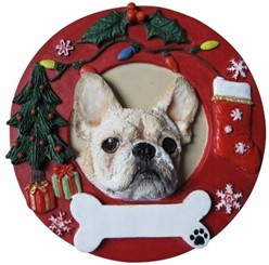 French Bulldog Christmas Ornament That Can Be Personalized