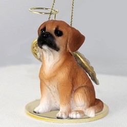 Puggle Angel Ornament
