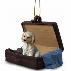 Labradoodle Traveling Companion Ornament