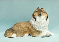 Collie at Rest, Ron Hevener Limited Edition Dog Figurine