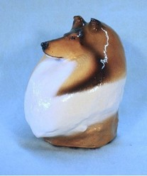 Collie Bust, Ron Hevener Limited Edition Dog Figurine