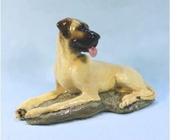 Great Dane Uncropped, Ron Hevener Limited Edition Figurine
