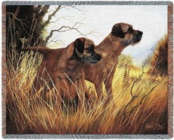 Border Terrier Throw Blanket, Made in the USA