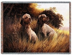 Clumber Spaniel Throw Blanket, Made in the USA