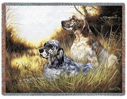 English Setters Throw Blanket, Made in the USA