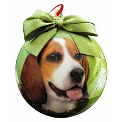 Beagle Christmas Ball Ornament