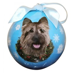 Cairn Terrier Ball Dog Christmas Ornament