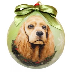 Cocker Spaniel Ball Dog Christmas Ornament