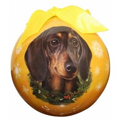 Dachshund Ball Dog Christmas Ornament