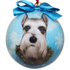 Schnauzer Ball Christmas Ornament - Click for more breed options