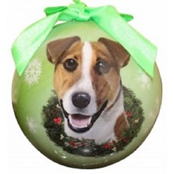 Jack Russell Ball Christmas Ornament