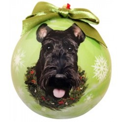 Scottish Terrier Ball Christmas Ornament