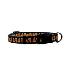 Candy Corn Halloween Collar, Made in the USA