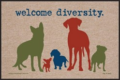 Welcome Diversity Dog Door Mat