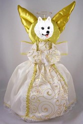 American Eskimo Angel Tree Topper
