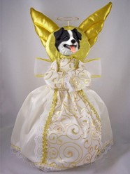 Border Collie Angel Tree Topper