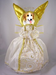 Borzoi Angel Tree Topper
