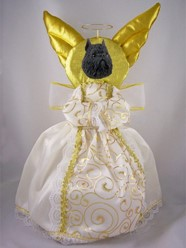 Brussels Griffon Angel Tree Topper