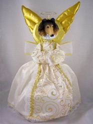 Collie Angel Tree Topper