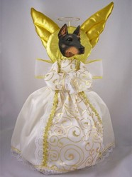 Doberman Angel Tree Topper