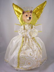 Finnish Spitz Angel Tree Topper