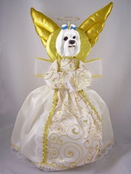 Maltese Angel Tree Topper