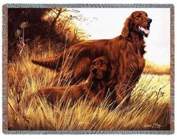 Irish Setter Throw Blanket, Made in the USA