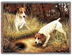 Jack Russell Terrier Throw Blanket, Made in the USA