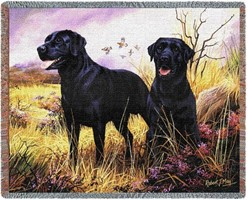 Black Labs Throw Blanket, Made in the USA