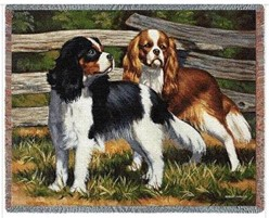 Cavalier King Charles Duo Throw Blanket, Made in the USA