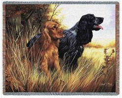 Cocker Spaniel Throw Blanket, Made in the USA