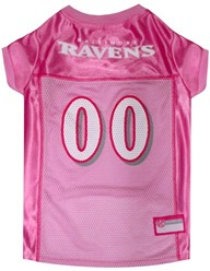 Baltimore Ravens Pink Pet Football Jersey
