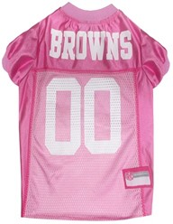 Cleveland Browns Pink Pet Football Jersey